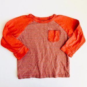 Baby Gap Orange Striped Rugby Shirt